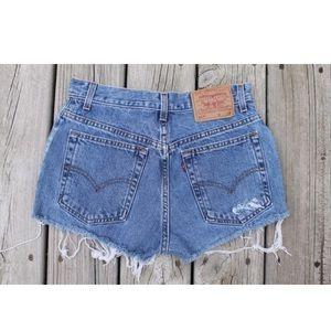 Vintage Levi's Red Tab Denim Shorts 9 W29